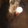 Den Boden locker verfüllen - immer in die Mitte des Schüttkegels